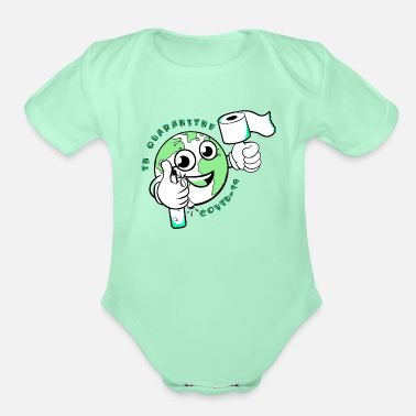 Covid COVID 19 In Quarantine - Organic Short-Sleeved Baby Bodysuit