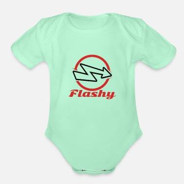 Flashy Flashy - Organic Short-Sleeved Baby Bodysuit