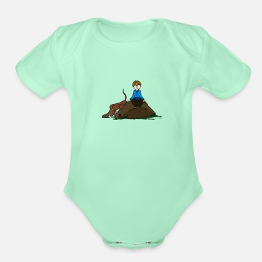 Search Dog Search Dog - Organic Short-Sleeved Baby Bodysuit