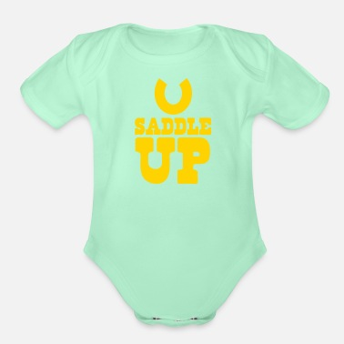 Saddle SADDLE UP - Organic Short-Sleeved Baby Bodysuit