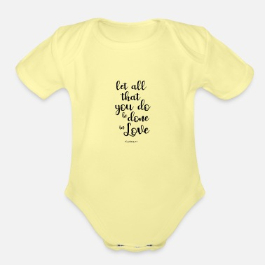 Religious Religious quotes - Organic Short-Sleeved Baby Bodysuit