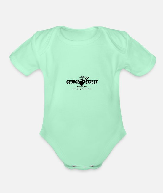Canada Baby One Pieces - George Street Music - Organic Short-Sleeved Baby Bodysuit light mint