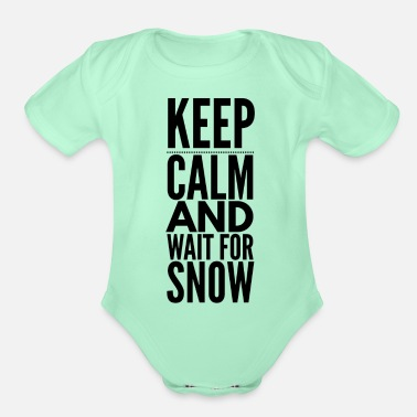 Country KeepCalm Snow - Organic Short-Sleeved Baby Bodysuit