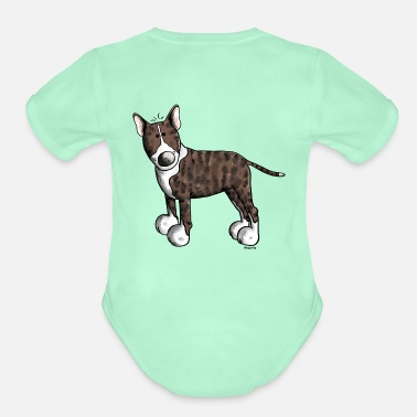 Bull Cute Bull Terrier - Organic Short-Sleeved Baby Bodysuit