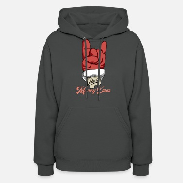 Ugly Christmas Merry Xmas. Let's rock - Women's Hoodie
