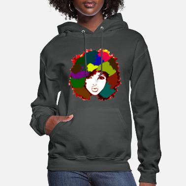 Hair Afro Rainbow Art Natural Hair Naturalista - Women's Hoodie