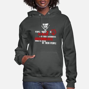 Vendetta GUY FAWKES V FOR VENDETTA QUOTE - Women's Hoodie