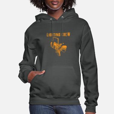 Stage Lighting Crew Retro Light Tech Stage Crew Gifts - Women's Hoodie