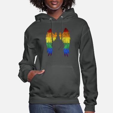 Lgbt Rainbow Wings - Women's Hoodie