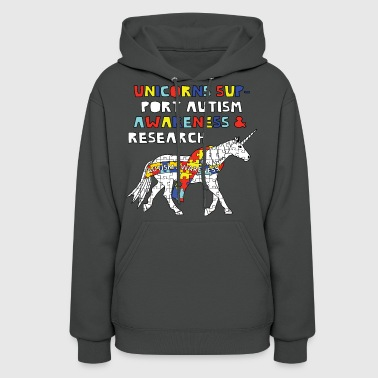autism awareness unicorn - Women's Hoodie