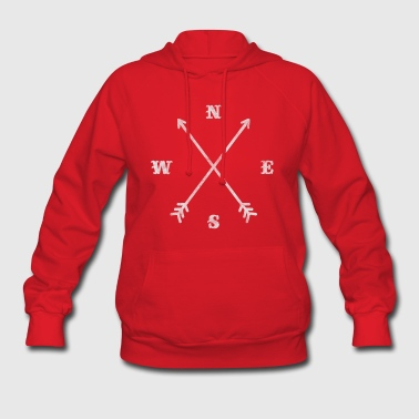 Hipster compass / crossed arrows / retro look - Women's Hoodie