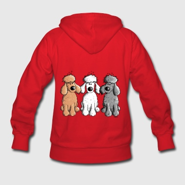 Three Funny Poodle - Dog - Dogs - Women's Hoodie