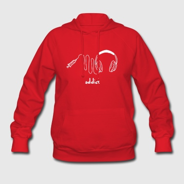 Music - Wire - Headphones - I love music - gift - Women's Hoodie