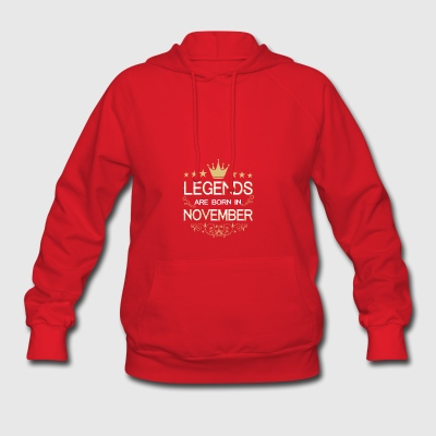 Legends are born in November birthday month shirt - Women's Hoodie