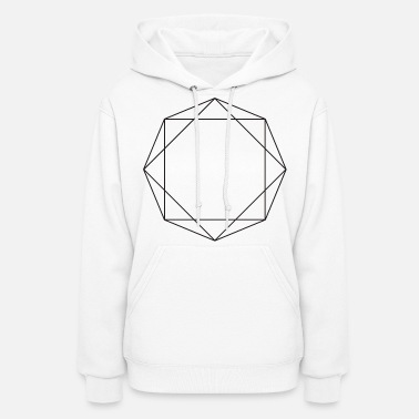 Octagon Octagon symbols shapes gift geometric sign hipster - Women's Hoodie