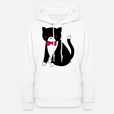 Tuxedo Cat Cat Versus Humans mp - Women's Hoodie