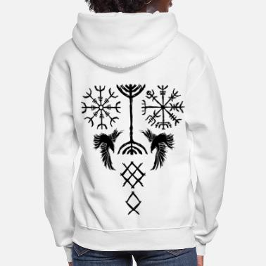 Celtic Viking symbols and signs tattoo design - Women's Hoodie