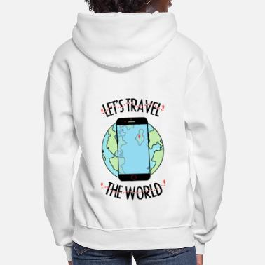 Traveller Let's travel the world - Women's Hoodie