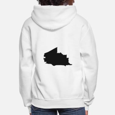 Vector Plano Texas city map black illustration silhouette - Women's Hoodie
