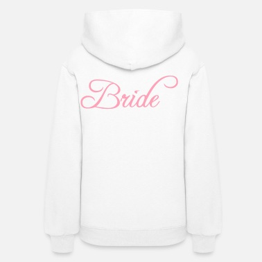 Groom Bride Text Word Graphic Design Picture Vector - Women's Hoodie