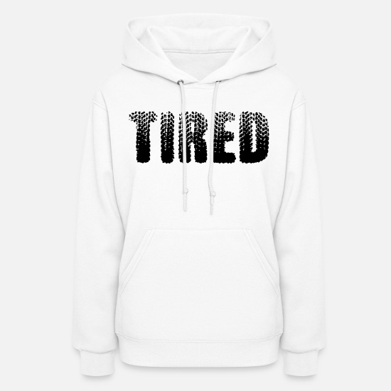 Track Hoodies & Sweatshirts - Tired - Women's Hoodie white