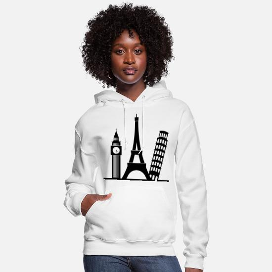 Europe Hoodies & Sweatshirts - Europe (1c)++ - Women's Hoodie white