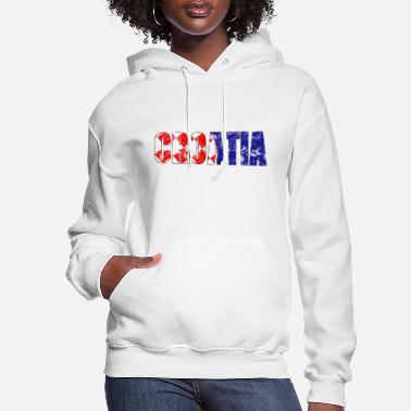 Croatia Flag Heart Love Sportswear with Pockets Womens Pullover Sweatshirt Long Hoodie Dress
