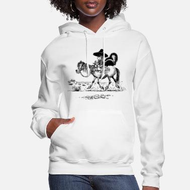 Norman Thelwell Thelwell Bandit With Cute Skunk And Horse - Women's Hoodie