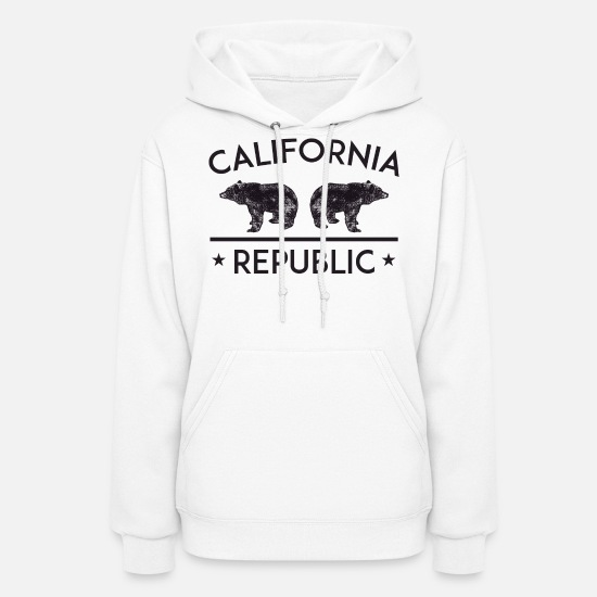California Hoodies & Sweatshirts - California Republic - Women's Hoodie white