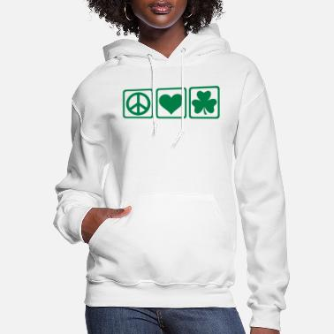 Shamrock Peace love Shamrock - Women's Hoodie