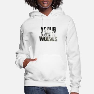 Young White Wolves - Women's Hoodie