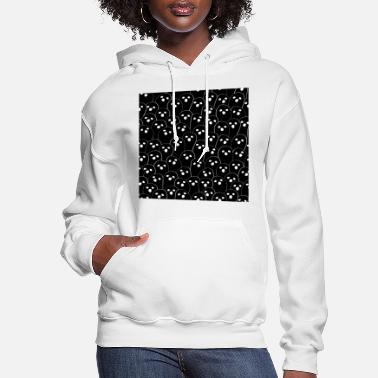 Gate October Halloween halloween ghost doodle Black - Women's Hoodie