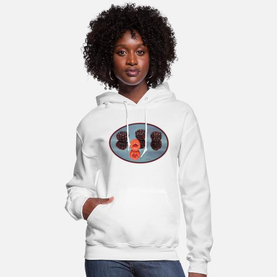 Reflective Hoodies & Sweatshirts - Raspberry Reflection - Women's Hoodie white