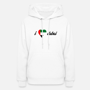 Dubai I love india heart design! Gift idea for traveler - Women's Hoodie