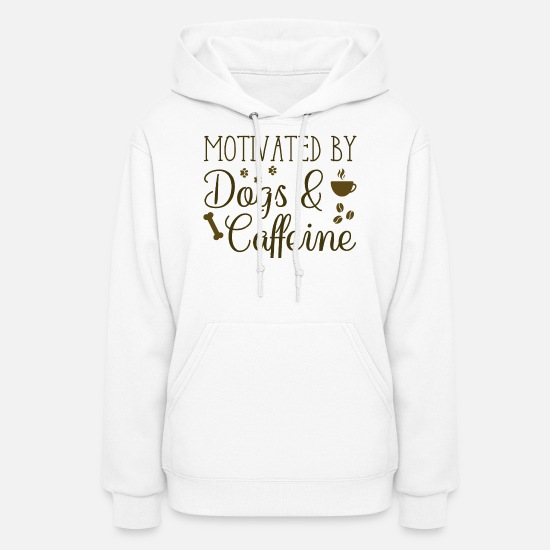 Pet Hoodies & Sweatshirts - Dogs And Caffeine - Women's Hoodie white