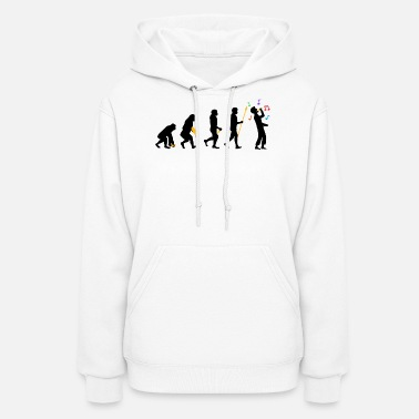 Folk Band Schlager Evolution Folk Music Brass Band Funny - Women's Hoodie