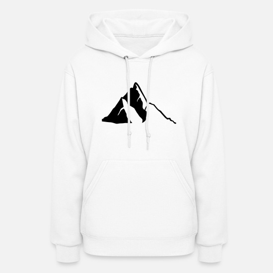 Mountains Hoodies & Sweatshirts - Mountains, Mountain - Women's Hoodie white