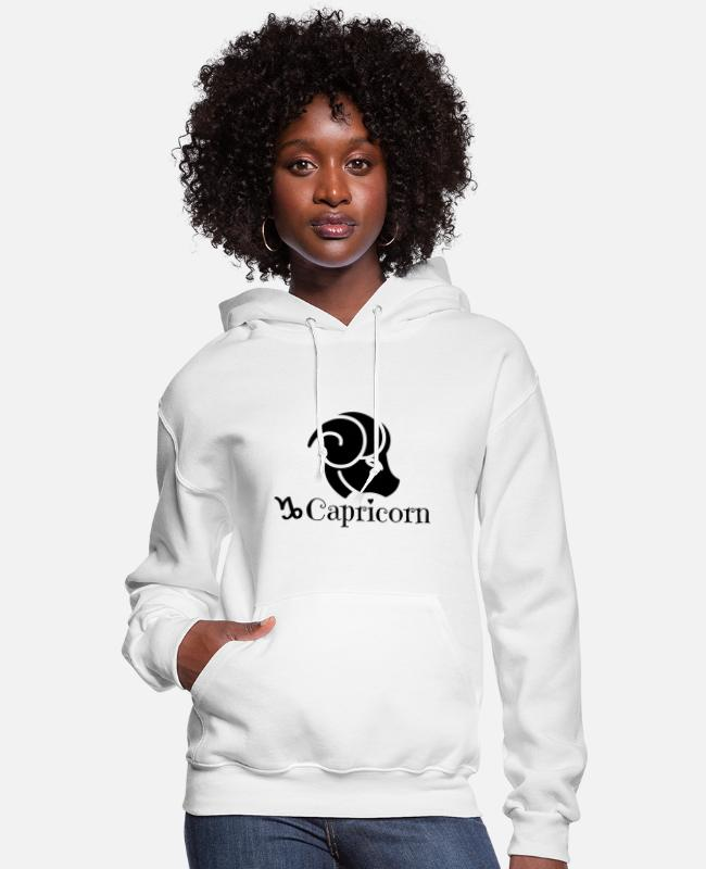 Capricorn - Mountain Hoodies & Sweatshirts - Capricorn - mountain goat - Women's Hoodie white
