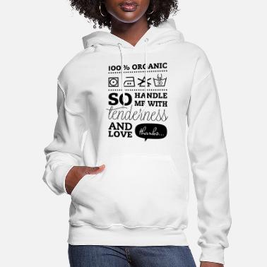Tlc Typographic Laundry Tag TLC Tender Love Care - Women's Hoodie