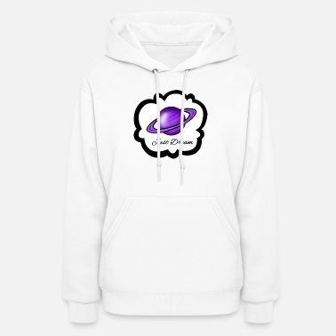 Purple PURPLE SATURN WITH JUST DREAM PHRASE - Women's Hoodie