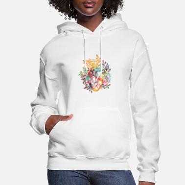 Flowers Anatomical heart with flowers - Women's Hoodie