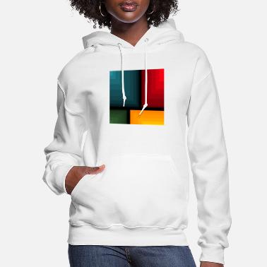 Yellow Blue Red Yellow Green Abstract - Women's Hoodie