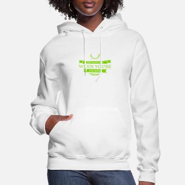 Lettering Laughing Is Always Possible - Women's Hoodie