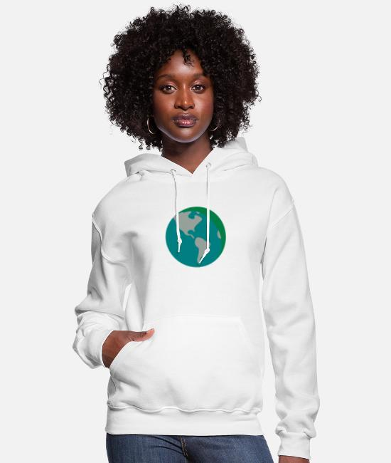 Earth Hoodies & Sweatshirts - Earth - Women's Hoodie white