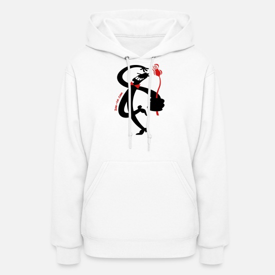 4d3139e6b3dd9 Man with Red Rose Women's Hoodie | Spreadshirt