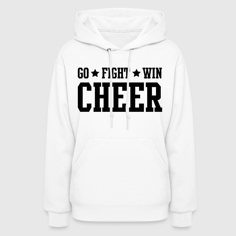 cheer go fight win stars - Women's Hoodie