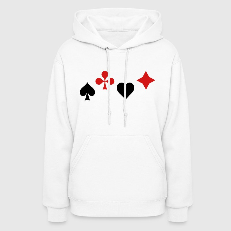 Ace of Spade Aces Hearts diamonds clubs 2c - Women's Hoodie