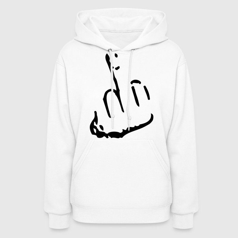 Fuck you finger middle finger hand - Women's Hoodie