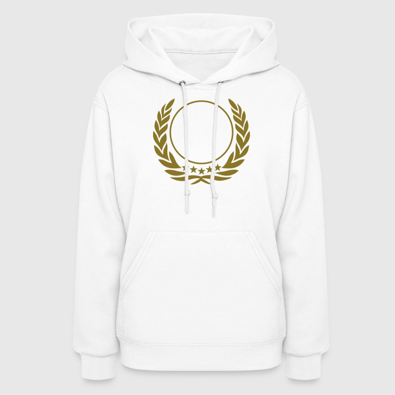 Laurel wreath, 5 stars, Award, best, hero, winner - Women's Hoodie