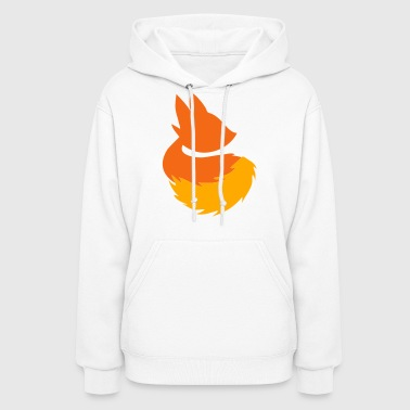 cute fox shape with fluffy tail - Women's Hoodie